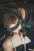 Упряжь для тренировки шеи кожаная D1, фото 3