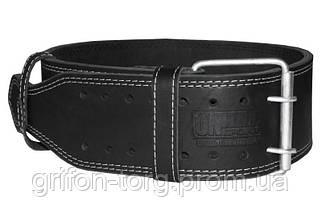 Пояс для пауэрлифтинга кожаный 2-хслойный, размер М  (67-85 см)