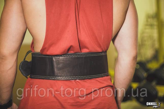 Пояс для пауэрлифтинга кожаный 2-хслойный, размер L  (78-96 см), фото 2