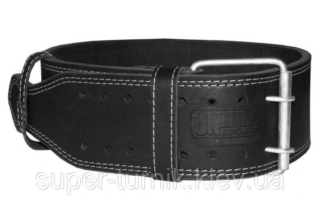 Пояс для пауэрлифтинга кожаный 2-хслойный, размер ХXL  (98-116 см), фото 2