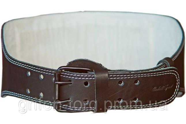 Пояс атлетический кожаный 1-слойный р-р M  (80 - 100 см), фото 2