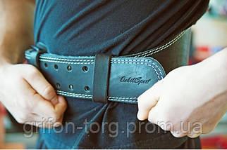 Пояс атлетический кожаный 1-слойный р-р M  (80 - 100 см), фото 3