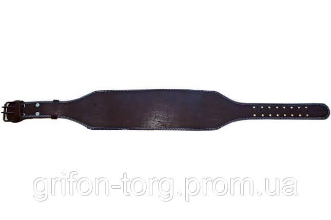 Пояс атлетический кожаный 1-слойный р-р XL  (101 - 121 см), фото 2