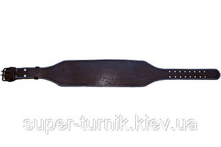 Пояс атлетический кожаный 3-хслойный р-р М (80 - 100 см), фото 3