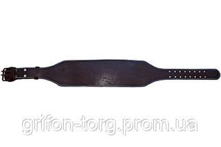 Пояс атлетический кожаный 2-хслойный р-р L (89 - 110 см), фото 3