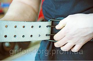 Пояс атлетический кожаный 2-хслойный р-р L (89 - 110 см), фото 2