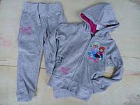 Велюровый спортивный костюм Disney для девочки . Размеры: 98-104,110,116,122,128,134