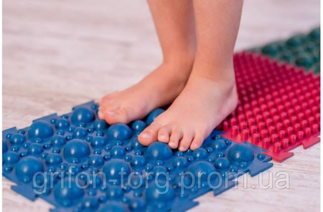 """Массажный резиновый коврик для ног """"Пазлы-8"""", фото 2"""