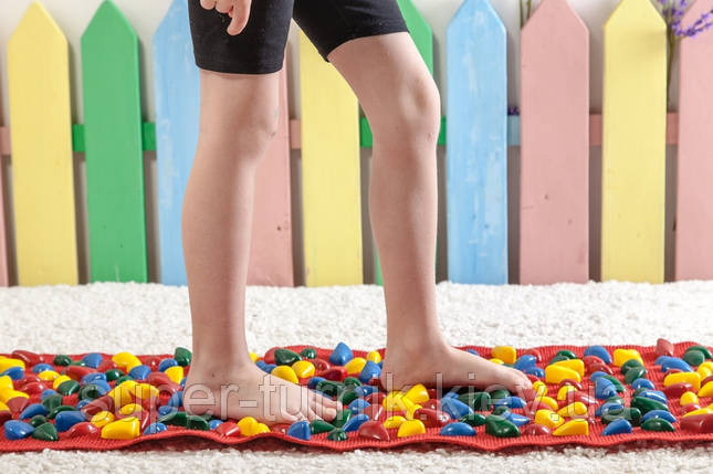 Массажный коврик с цветными камнями 100 х 40 см, фото 2