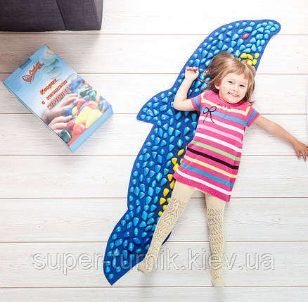Массажный коврик с цветными камнями Дельфин 100 х 40 см, фото 2