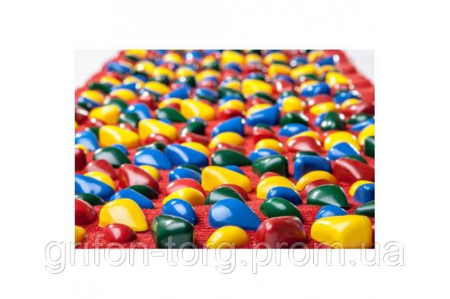 Массажный коврик с цветными камнями 200 х 40 см, фото 2