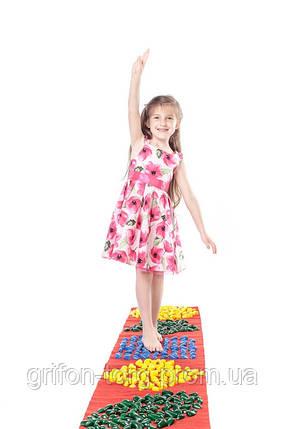 Массажный коврик с цветными камнями детский развивающий 200 х 40 см, фото 2
