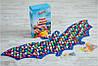 Массажный коврик массажер с цветными камнями Летучая Мышь (р.143х50см)