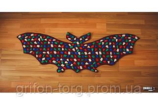 Массажный коврик массажер с цветными камнями Летучая Мышь (р.143х50см), фото 3
