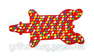 Массажный коврик массажер с цветными камнями Медведь (р.100х50см), фото 2