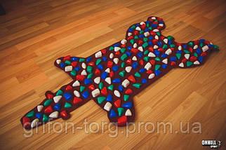 Массажный коврик массажер с цветными камнями Медведь (р.100х50см), фото 3