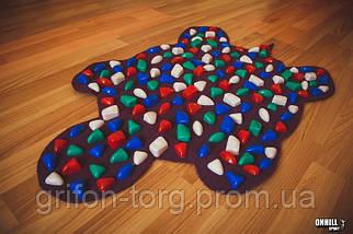 Массажный коврик массажер с цветными камнями Черепаха (р.80х50см), фото 3