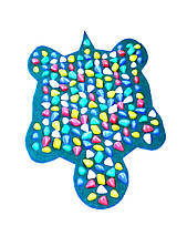 Массажный коврик массажер с цветными камнями Черепаха (р.80х50см), фото 2