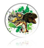 "Закатної круглий значок - ""Динозаври"" - Арт 1"