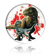 """Закатной круглый значок - """"Динозавры"""" - Арт 2"""