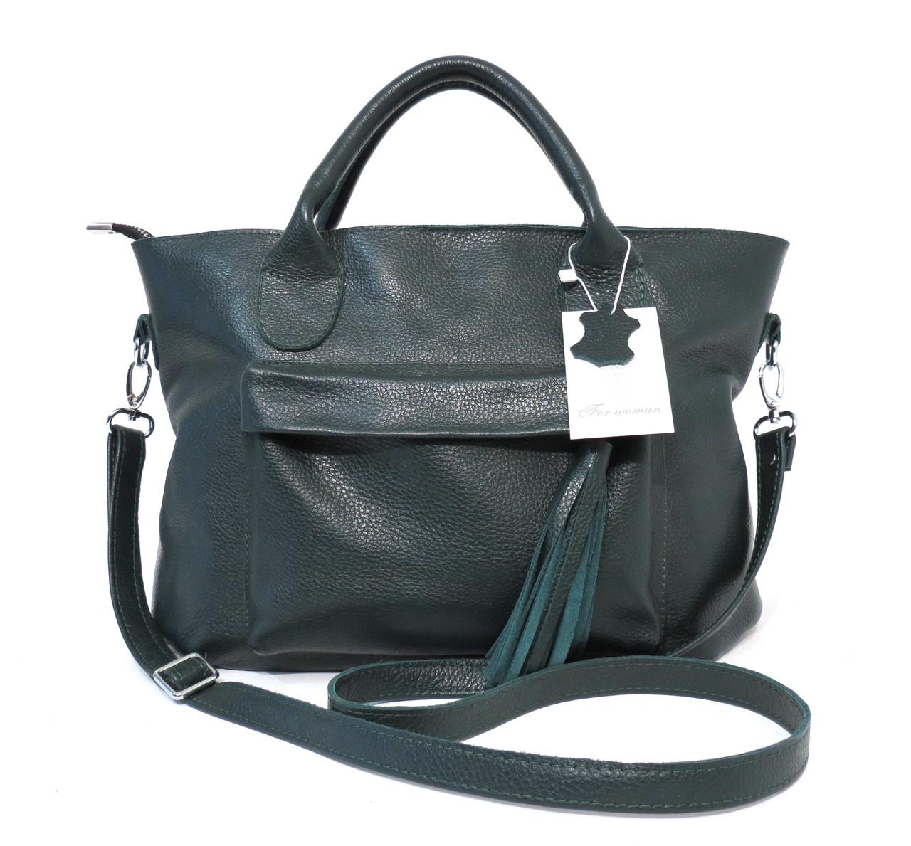 4096c1537a15 Женская кожаная сумка 26 Зеленый - Интернет-магазин сумок и кошельков