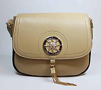 Маленькая женская сумочка темно-бежевого цвета