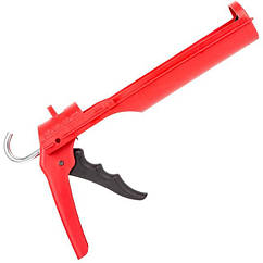 Пистолет для выдавливания силикона, усиленный пластик INTERTOOL HT-0027