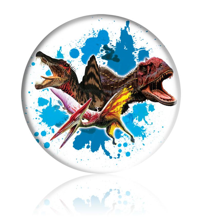 """Закатной круглый значок - """"Динозавры"""" - Арт 3"""
