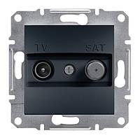 Розетка TV-SAT концевая антрацит schneider asfora