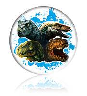 "Закатної круглий значок - ""Динозаври"" - Арт 4"