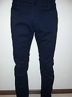 Брюки мужские темно-синие на флисе 9115, фото 1