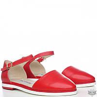 Красные женские босоножки из кожи Villomi 0016-03kr