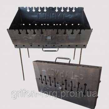 Мангал-чемодан 2-х уровневый на 10 шампуров, фото 2