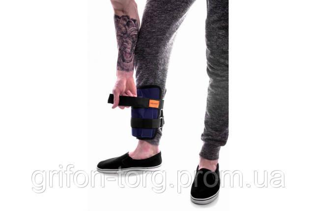 Утяжелители для рук и ног регулируемые 10 кг пара (2*5 кг) металл, фото 2