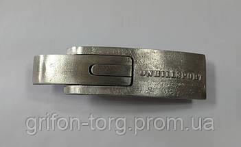 Пояс для пауэрлифтинга кожаный 2-хслойный с карабином, р-р ХХL  (90-115 см), фото 3