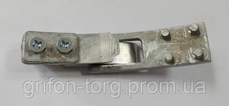 Пояс для пауэрлифтинга кожаный 2-хслойный с карабином, р-р ХХL  (90-115 см), фото 2