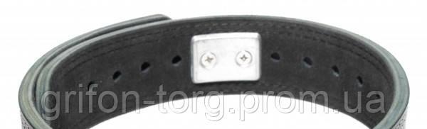 Пояс для пауэрлифтинга кожаный 3-хслойный с карабином р-р S (50-75 см), фото 2