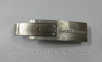 Пояс для пауэрлифтинга кожаный 3-хслойный с карабином р-р S (50-75 см), фото 3