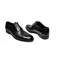 Кожаные мужские ботинки оксфорды на шнуровке 11571