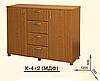 Комод К-4+2 МДФ. Мебель для спальни, гостиной, детской, фото 2