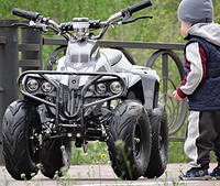 Электроквадроцикл CRAFTER HUNTER HB-6-EATV 800 GREY, грузоподъемность 100кг, сигнализация, спидометр