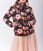 Модная куртка с цветочным принтом