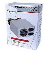 Блок питания Gembird 300W CCC-PSU1B, 80 mm, 20+4pin, 1x4pin, SATA х 3, Molex 1x4pin, кабеля немодульные