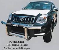 Защита переднего бампера (кенгурятник) для Toyota Land Cruiser 120 2002—2009