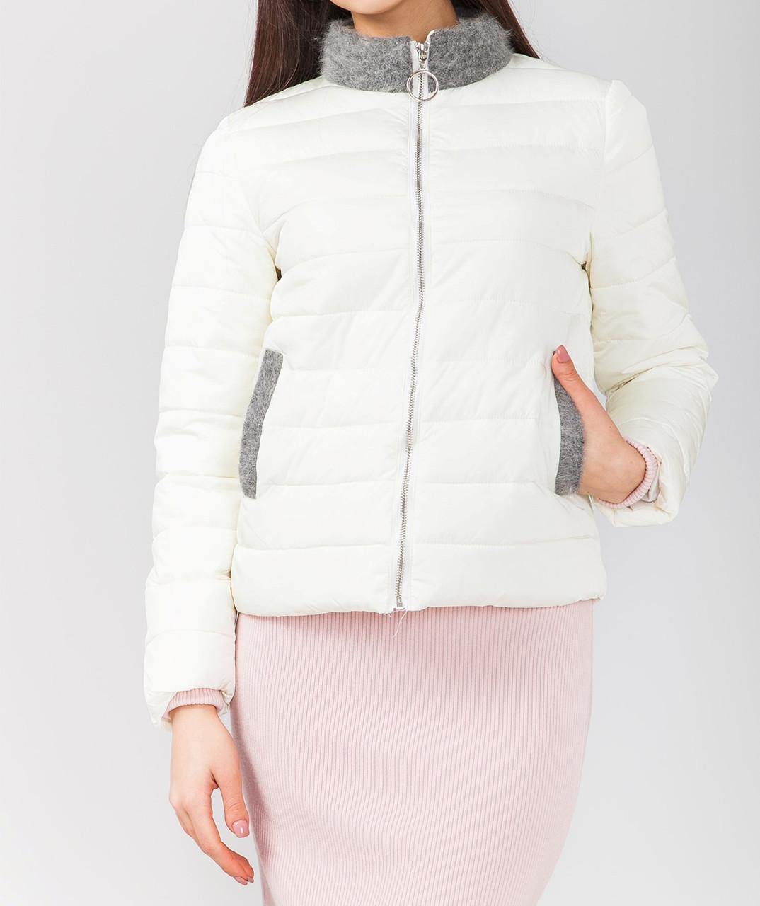 Модная куртка в белом цвете, фото 1