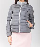 Модная куртка на молнии с вставками ангоры