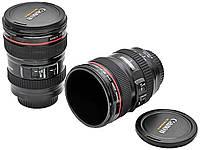 Кружка-объектив Canon EF 24-105mm с крышкой-линзой