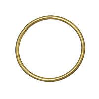 Колечко, Разрезное, Круглое, Латунный цвет, 13 мм