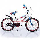 Детский велосипед Azimut Fiber 20 дюймов бело-голубой, фото 2