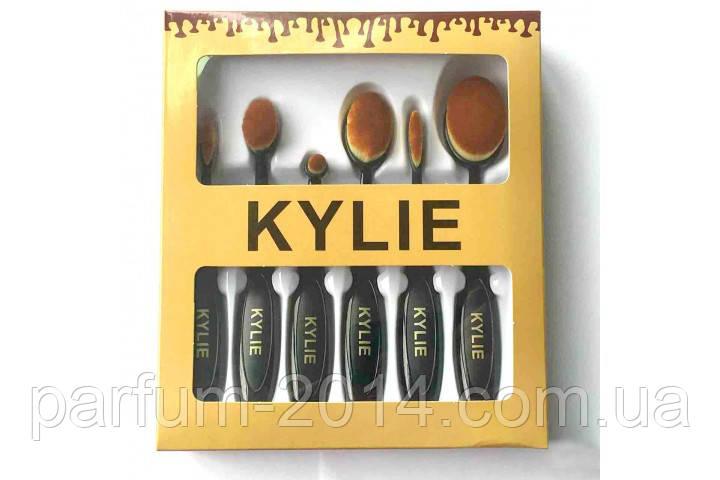 Набор кистей для макияжа от KYLIE для тональной основы, консиллера, пудры, румян (реплика)